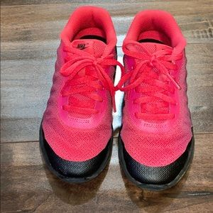 Girls: Pink and Black Nike's